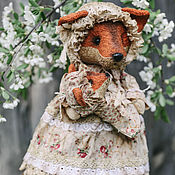 Куклы и игрушки ручной работы. Ярмарка Мастеров - ручная работа Мама лиса.. Handmade.