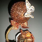 """Цветы и флористика ручной работы. Ярмарка Мастеров - ручная работа Топиарий """"Кофе с корицей"""". Handmade."""