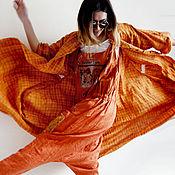 """Комбинезоны ручной работы. Ярмарка Мастеров - ручная работа Комбинезон из льна """"Оранжевое солнце"""". Handmade."""