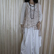 Одежда handmade. Livemaster - original item Tunic vest crystal openwork. Handmade.