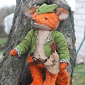 Мягкие игрушки ручной работы. Ярмарка Мастеров - ручная работа Лис тедди Робин Гуд. Handmade.