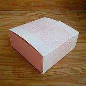 Материалы для творчества ручной работы. Ярмарка Мастеров - ручная работа Коробочка книжечка розовая 12х12х5см. Handmade.