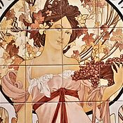Дизайн и реклама handmade. Livemaster - original item work on the order. painted ceramics. Mural
