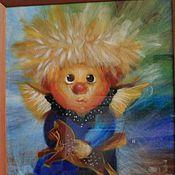 """Картины и панно ручной работы. Ярмарка Мастеров - ручная работа """"Ангел""""  по картинам Г. Чувиляевой. Handmade."""