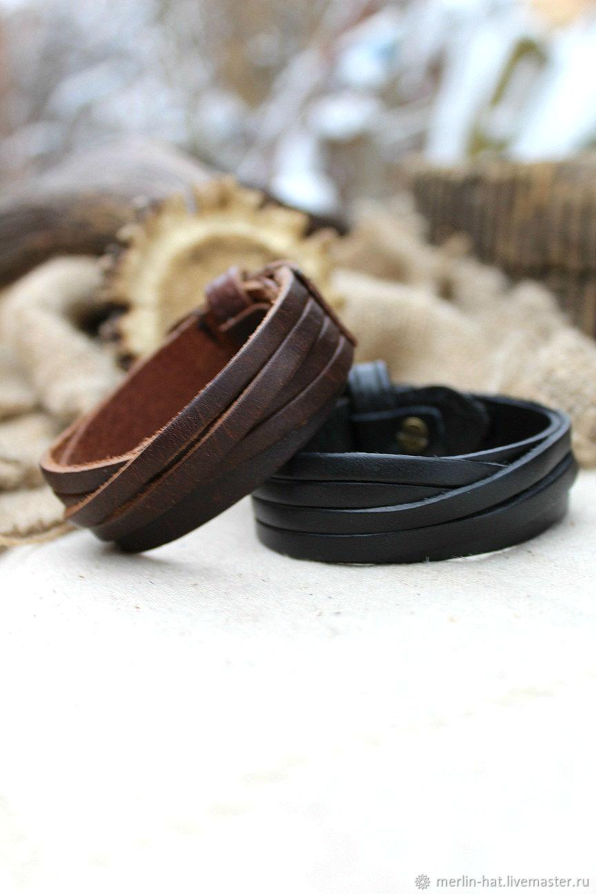 """Кожаные браслеты """"Винтажный"""""""