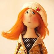 Куклы и игрушки ручной работы. Ярмарка Мастеров - ручная работа Осень романтичная. Текстильная коллекционная кукла.. Handmade.