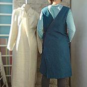 Сарафаны ручной работы. Ярмарка Мастеров - ручная работа Платье-фартук из плотного хлопка. Handmade.
