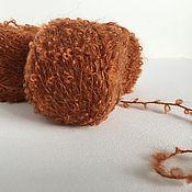 Пряжа ручной работы. Ярмарка Мастеров - ручная работа Мохер Букле для кукольных волос пряжа Адель. Handmade.