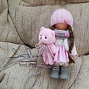 Тыквоголовка ручной работы. Ярмарка Мастеров - ручная работа Эмили. Интерьерная текстильная кукла («маршмеллоу»). Handmade.