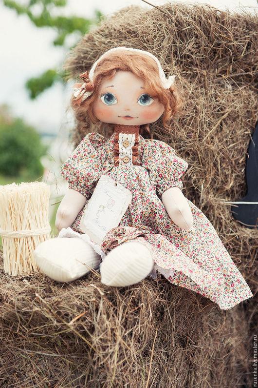 Коллекционные куклы ручной работы. Ярмарка Мастеров - ручная работа. Купить Виолетта, текстильная кукла.. Handmade. Бежевый