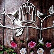 Для дома и интерьера handmade. Livemaster - original item Hanger wrought iron bird cage. Handmade.