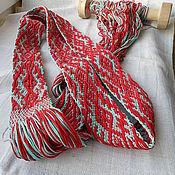 Одежда ручной работы. Ярмарка Мастеров - ручная работа Пояс тканый с традиционным орнаментом. Handmade.