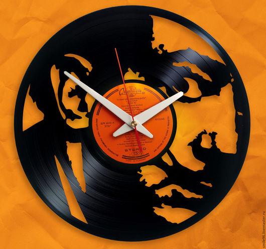 """Часы для дома ручной работы. Ярмарка Мастеров - ручная работа. Купить Часы из пластинки """"Сальвадор Дали"""". Handmade. Сальвадор Дали"""