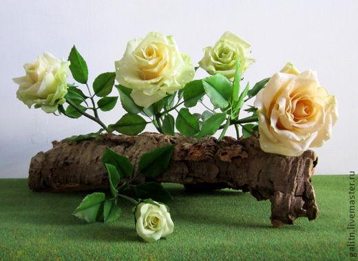 Интерьерные композиции ручной работы. Ярмарка Мастеров - ручная работа. Купить Мы в нежных розах ценим аромат.... Handmade. Белый
