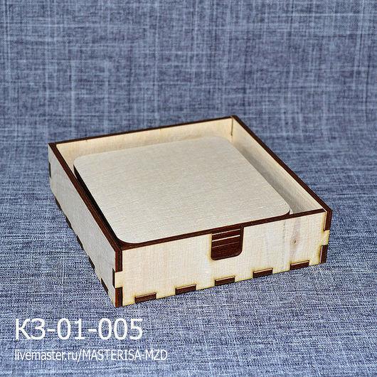 КЗ-01-005. Набор подставок под горячее с коробочкой. Набор состоит из вертикальной коробочки и подставок (6 шт).