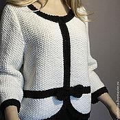 """Одежда ручной работы. Ярмарка Мастеров - ручная работа Вязаный жакет """"Elle. Handmade."""