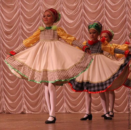 """Танцевальные костюмы ручной работы. Ярмарка Мастеров - ручная работа. Купить Танец """"Гусачок"""".. Handmade. Бежевый, народный танец, габардин"""