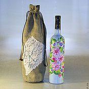 Сувениры и подарки ручной работы. Ярмарка Мастеров - ручная работа Бутылка подарочная. Handmade.