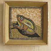 """Для дома и интерьера ручной работы. Ярмарка Мастеров - ручная работа Мозаика """"Лягушка на листе кувшинки"""". Handmade."""