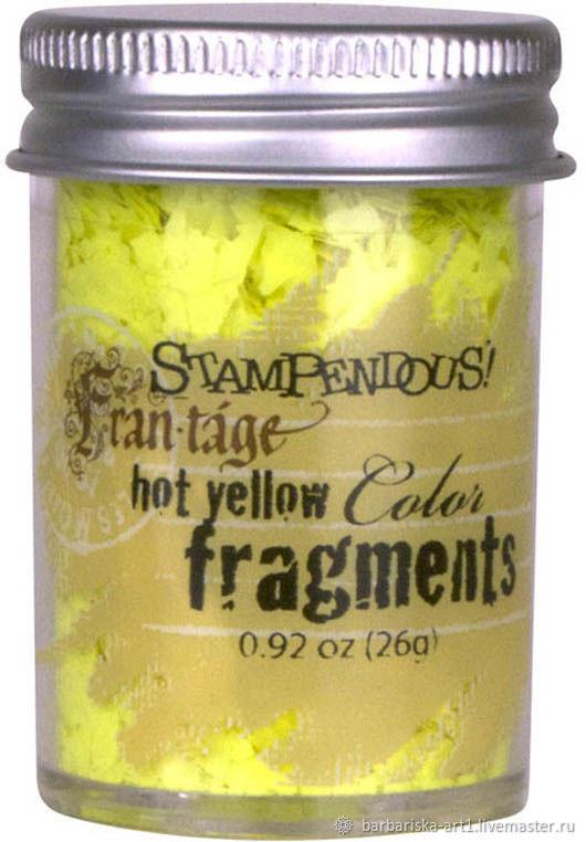 Топпинг Цветные фрагменты Hot Yellow от Stampendous, Материалы, Смоленск, Фото №1