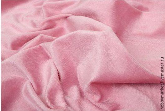Шитье ручной работы. Ярмарка Мастеров - ручная работа. Купить Плюш на трикотажной основе (розовый №1 ). Handmade. Ткань