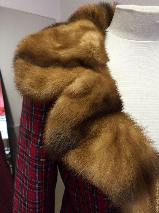 Верхняя одежда ручной работы. Ярмарка Мастеров - ручная работа. Купить Пальто с норкой. Handmade. Ярко-красный, красное пальто