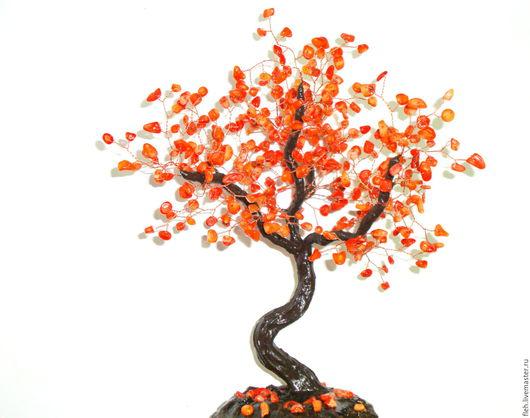 """Деревья ручной работы. Ярмарка Мастеров - ручная работа. Купить Дерево из коралла """" Счастливая семья"""". Handmade. Рыжий, для интерьера"""