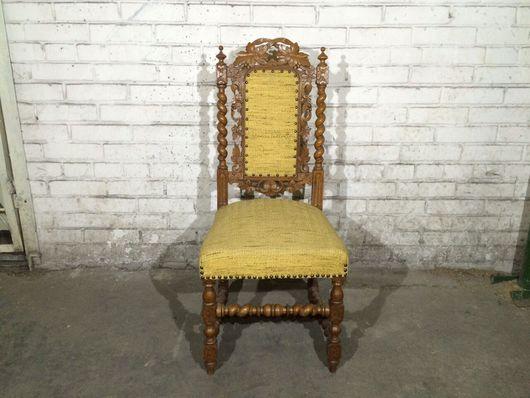 Винтажные предметы интерьера. Ярмарка Мастеров - ручная работа. Купить Антикварный стул трон. 1900 год. Handmade. Старинный стул