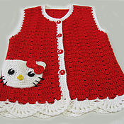 Работы для детей, handmade. Livemaster - original item Children`s vest, Vest for girls knitted crochet tank top knitted. Handmade.