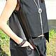 R00030 Кофта стильная сумка карман кожаная сумка жилет из шерсти стильная кофта кофточка из шерсти сумка из кожи стильная одежда дорогая одежда дизайнерская сумка авторская кофта кожаная одежда
