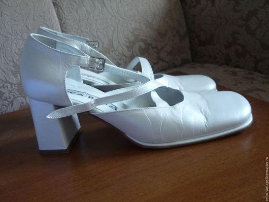 Винтажная обувь. Ярмарка Мастеров - ручная работа. Купить Туфли , Италия.. Handmade. Белый, туфли женские