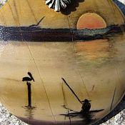 """Украшения ручной работы. Ярмарка Мастеров - ручная работа Кулон """"Рыбалка на закате"""". Handmade."""