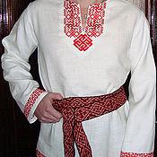 Народные рубахи ручной работы. Ярмарка Мастеров - ручная работа рубаха славянская льняная Родимич. Handmade.