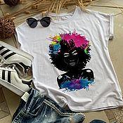 Одежда handmade. Livemaster - original item Fashion Women`s T-shirt - TEE10335CT. Handmade.
