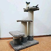 Зоотовары handmade. Livemaster - original item Stairs for cats and dogs up to the window. 2in1 scratching post and a ladder. buy.. Handmade.