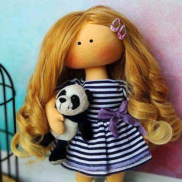 Для дома и интерьера ручной работы. Ярмарка Мастеров - ручная работа Кукла модная в подарок для интерьера и игры. Handmade.
