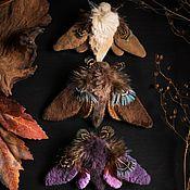 Украшения handmade. Livemaster - original item Brooch-butterfly textile. Handmade.