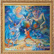 """Картины и панно ручной работы. Ярмарка Мастеров - ручная работа """"Momenta cuncta novantur"""". Handmade."""