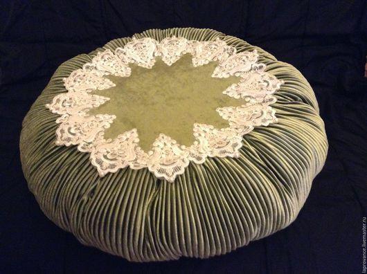 Текстиль, ковры ручной работы. Ярмарка Мастеров - ручная работа. Купить Подушка Очарование большая. Handmade. Оливковый, подушка на диван
