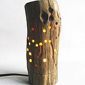 Для дома и интерьера ручной работы. Ярмарка Мастеров - ручная работа Лампа-ночник из дуба. Handmade.