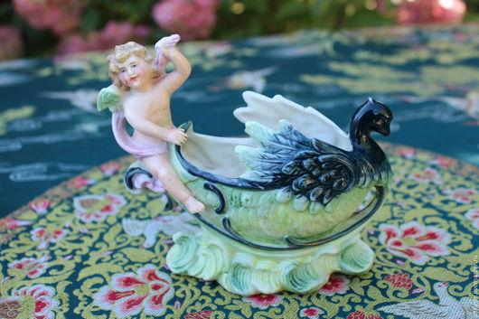 Винтажные предметы интерьера. Ярмарка Мастеров - ручная работа. Купить Винтажный вазон с ангелом, Германия. Handmade. Ангел, статуэтка, красивый