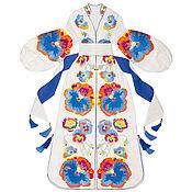 Одежда handmade. Livemaster - original item White dress with floral embroidery. Handmade.