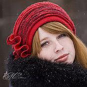 "Аксессуары ручной работы. Ярмарка Мастеров - ручная работа Красная шляпа ""Red Hat"". Handmade."