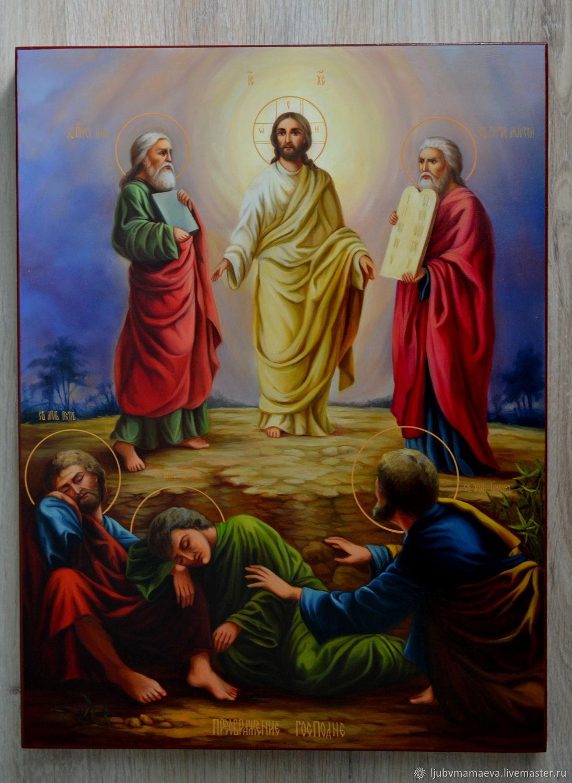 Рукописная икона . Икона Преображение Господне – заказать на ...