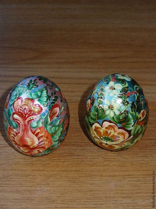 Яйца ручной работы. Ярмарка Мастеров - ручная работа. Купить Яйца пасхальные авторская роспись. Handmade. Пасха, яйцо деревянное