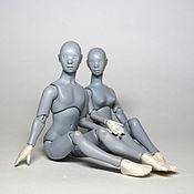 Куклы и игрушки ручной работы. Ярмарка Мастеров - ручная работа На заказ! Миниатюрная шарнирная кукла. Парочка масштаба 1/12. Handmade.