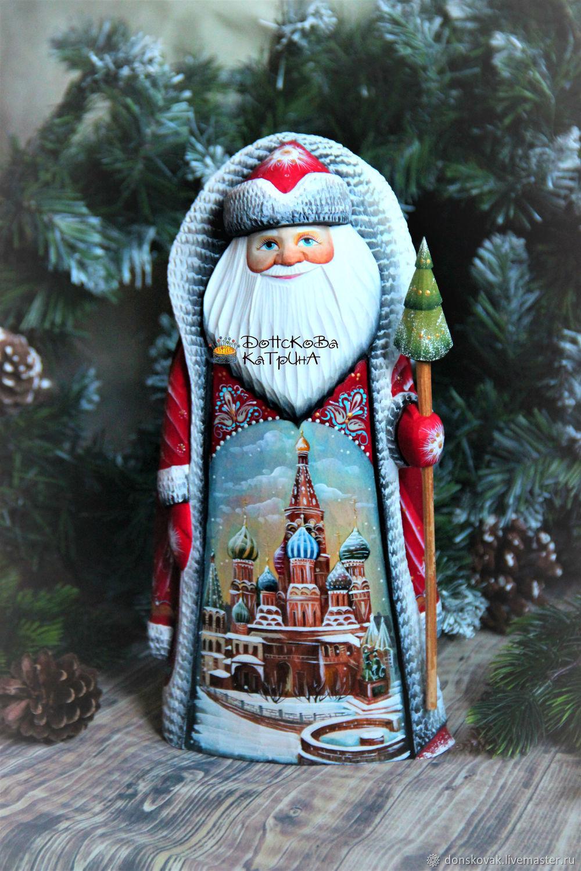 """Дед мороз большой """"Москва"""" (деревянный резной расписной), Дед Мороз и Снегурочка, Москва,  Фото №1"""