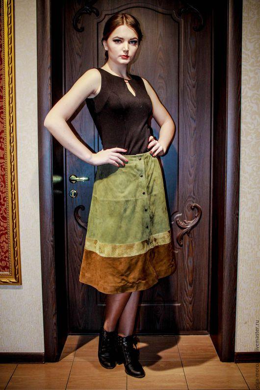 Юбки ручной работы. Ярмарка Мастеров - ручная работа. Купить Актуальные юбки из замши различной цветовой гаммы.Цена от 3800 до 5500. Handmade.