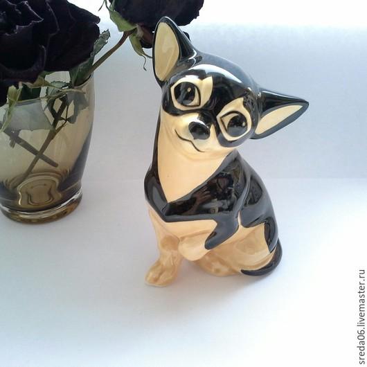Статуэтки ручной работы. Ярмарка Мастеров - ручная работа. Купить Коллекция собак разных пород. Handmade. Белый, пинчер, глазури