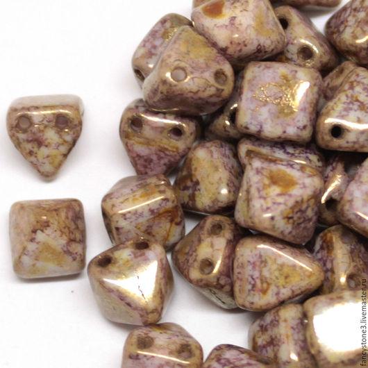 Для украшений ручной работы. Ярмарка Мастеров - ручная работа. Купить 15шт Чешские бусины Пирамидки 6мм, Senegal purple Pyramids Czech beads. Handmade.